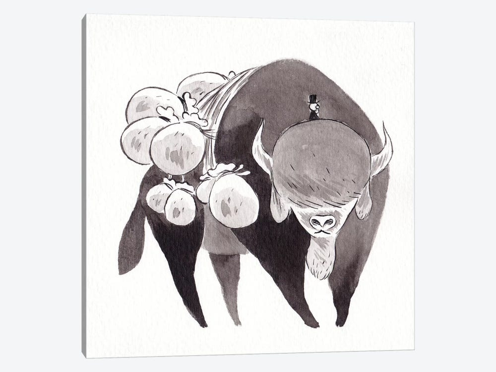 Bison by Yohan Sacre 1-piece Canvas Art