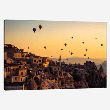Sunrise Over Cappadocia Canvas Print #YPA1} by Yavuz Pancareken Art Print