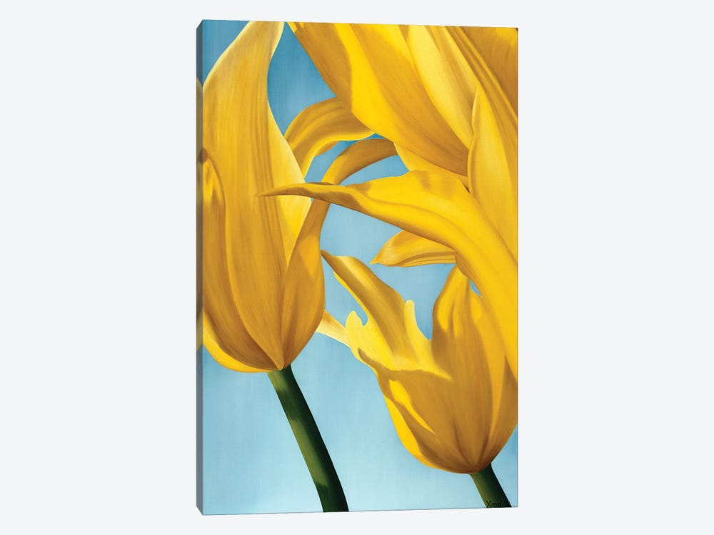Dancing Yellow by Yvonne Poelstra-Holzhaus 1-piece Canvas Wall Art