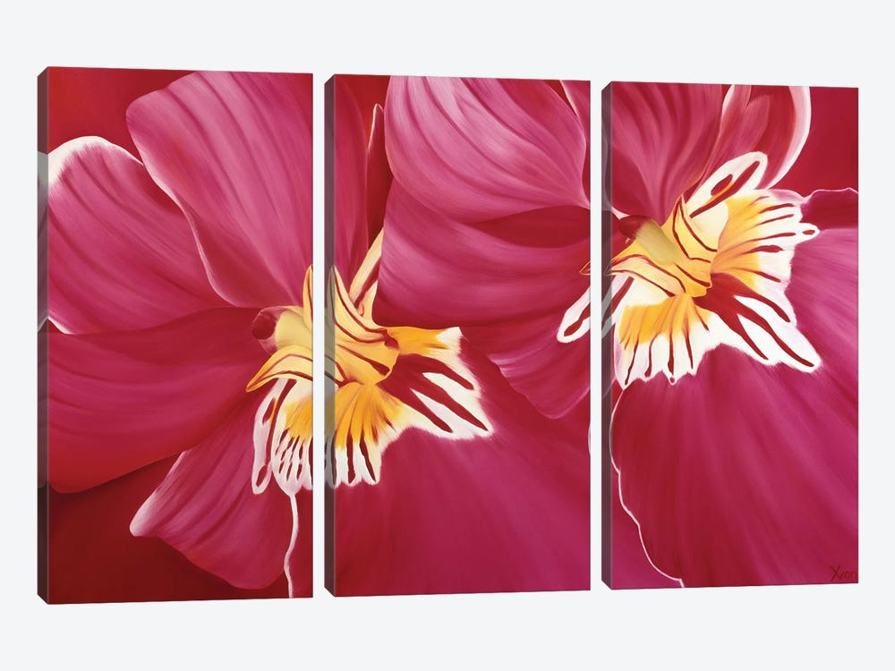 Floriade II by Yvonne Poelstra-Holzhaus 3-piece Canvas Wall Art