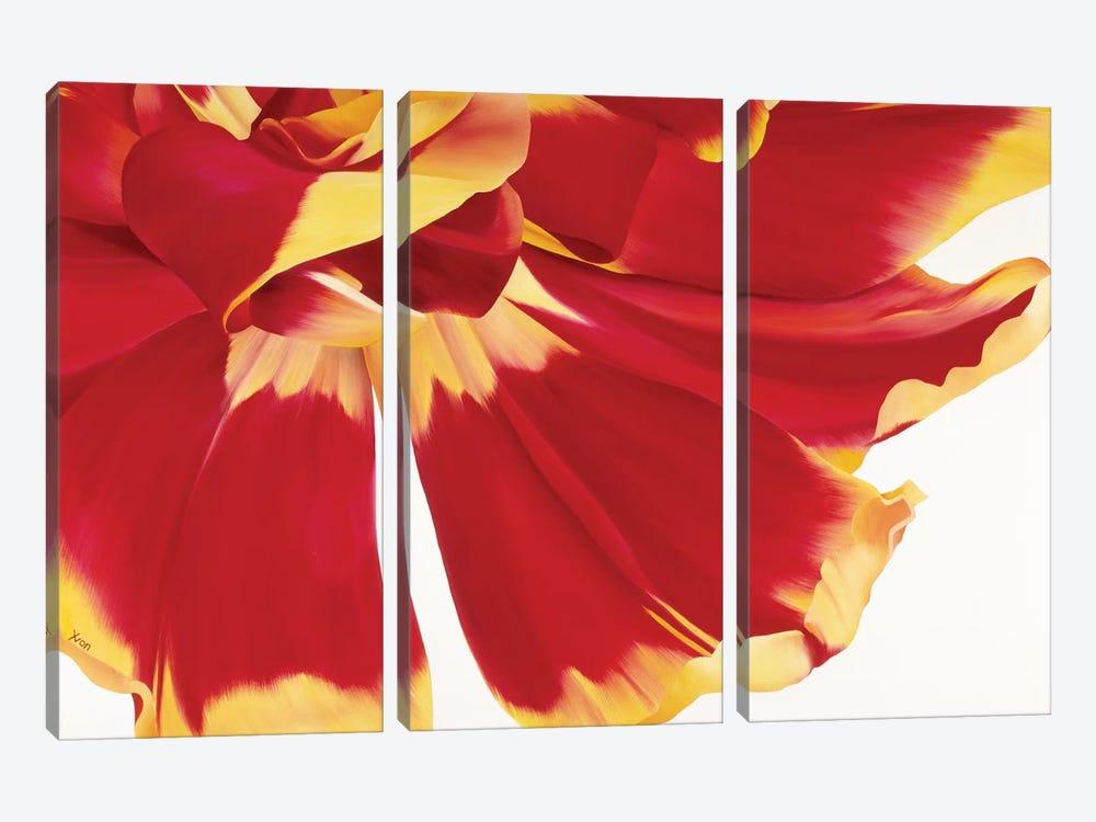 Floriade III by Yvonne Poelstra-Holzhaus 3-piece Art Print
