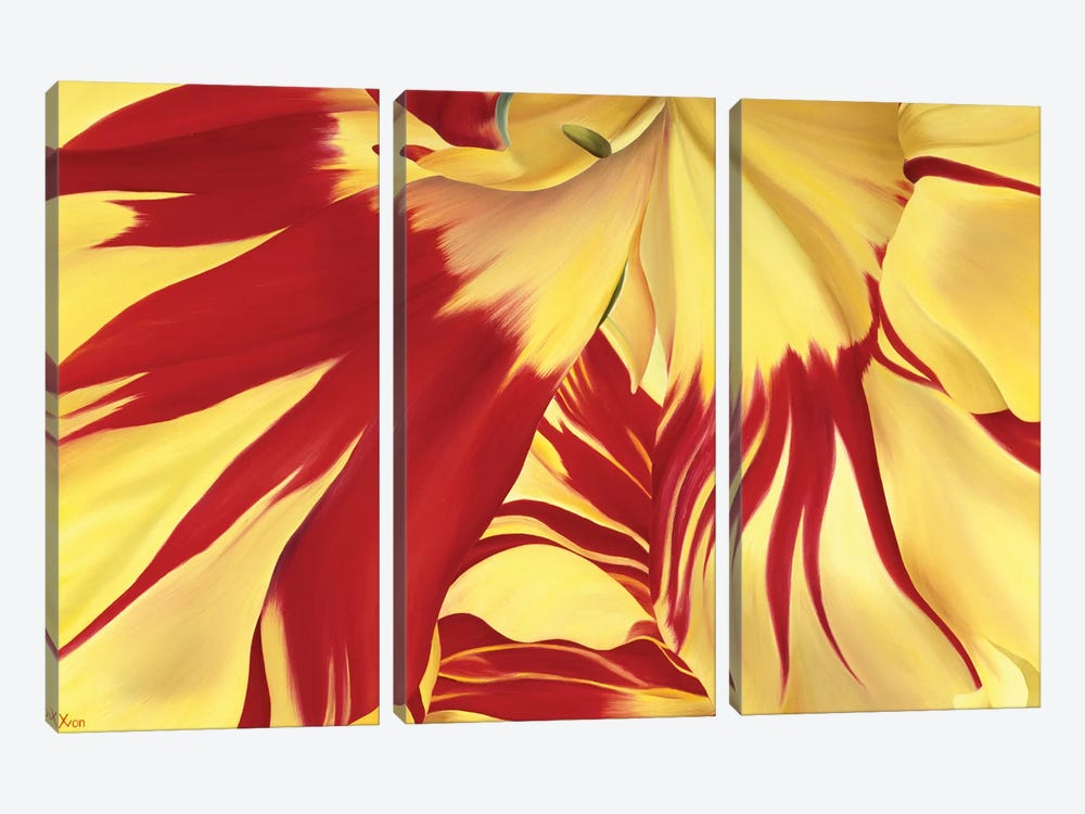 Alone by Yvonne Poelstra-Holzhaus 3-piece Canvas Artwork