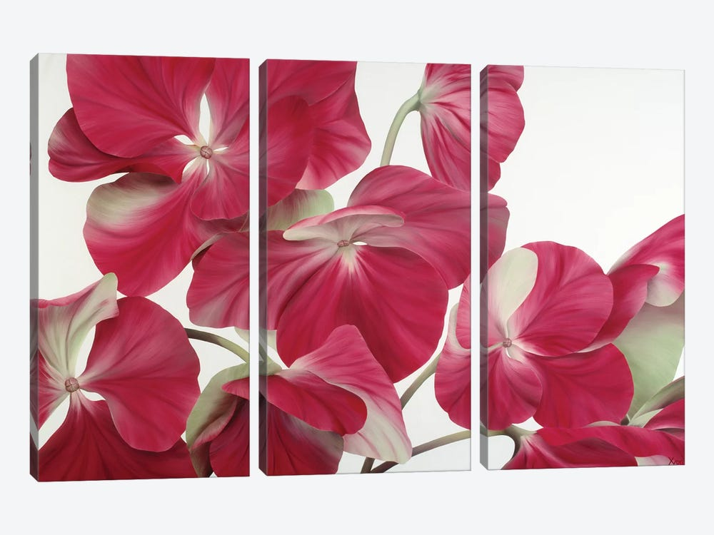 Floriade IV by Yvonne Poelstra-Holzhaus 3-piece Canvas Art Print