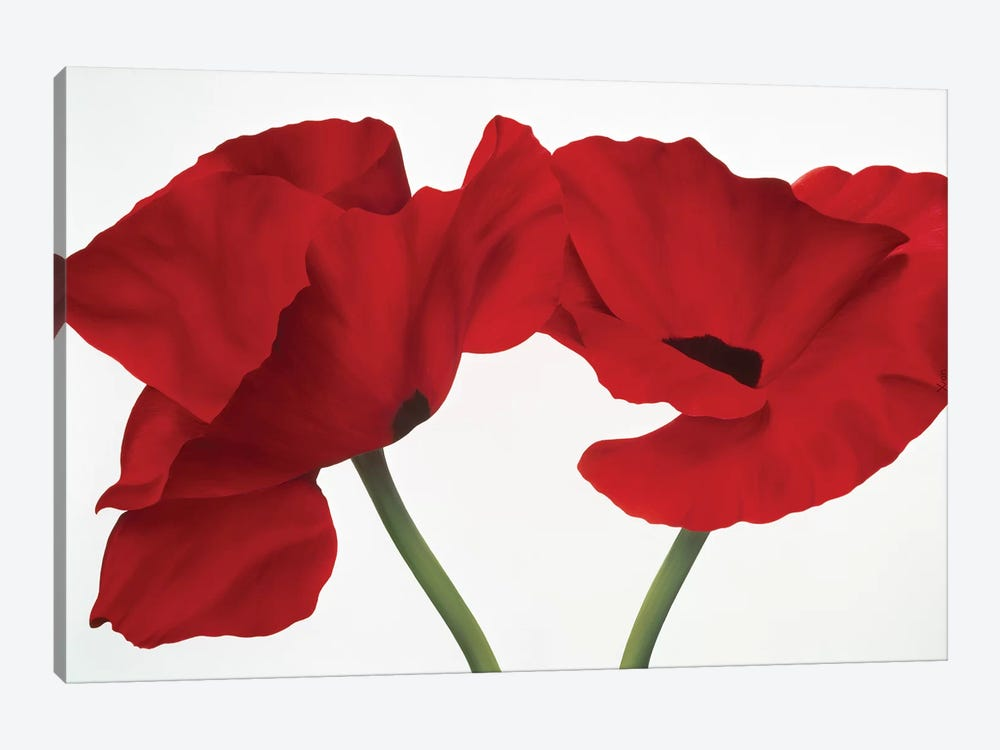 Poppy Red by Yvonne Poelstra-Holzhaus 1-piece Canvas Print