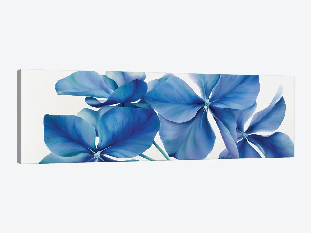Shiny Bleu by Yvonne Poelstra-Holzhaus 1-piece Canvas Wall Art
