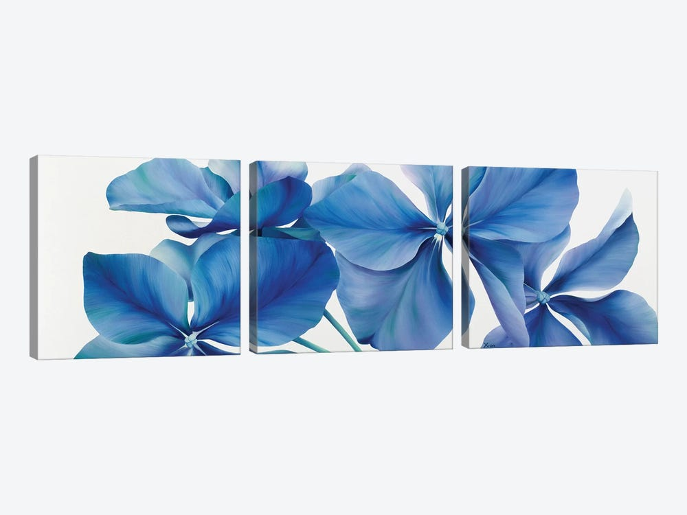 Shiny Bleu by Yvonne Poelstra-Holzhaus 3-piece Canvas Artwork