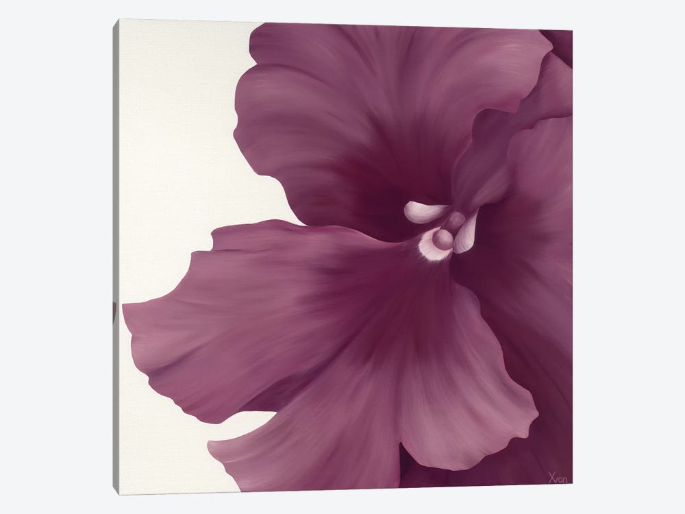 Violet Flower I by Yvonne Poelstra-Holzhaus 1-piece Canvas Art Print