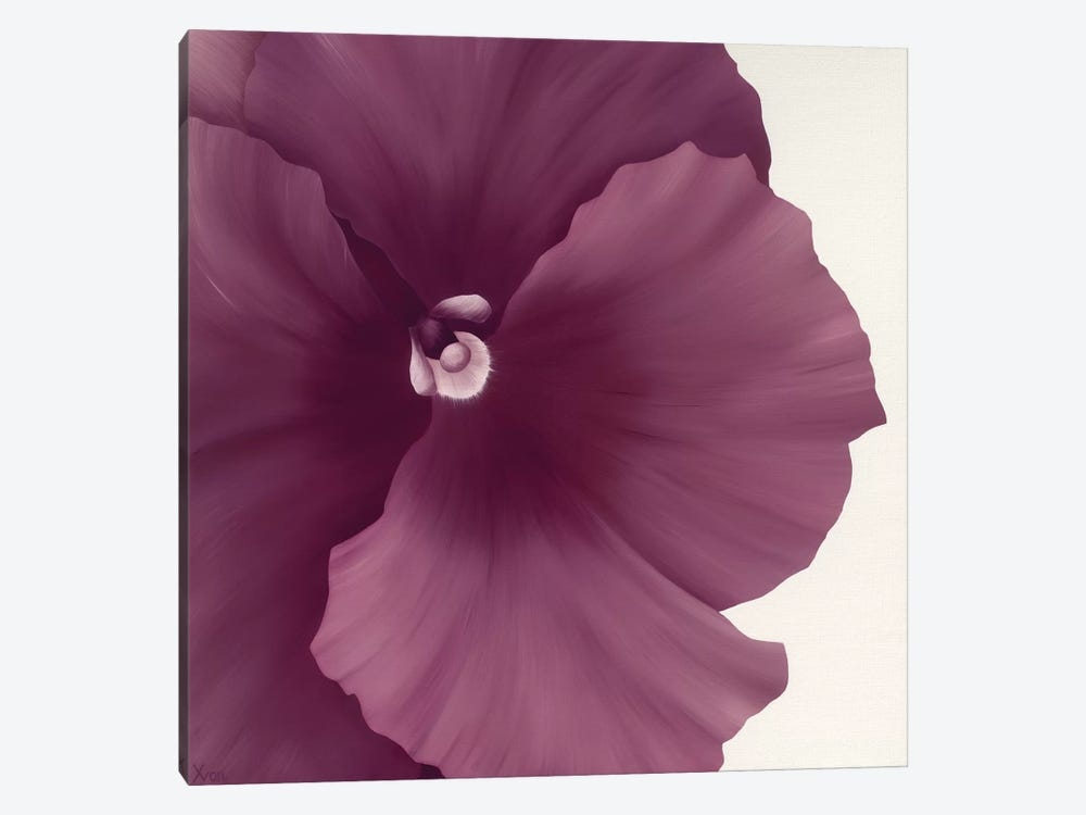 Violet Flower II by Yvonne Poelstra-Holzhaus 1-piece Canvas Artwork