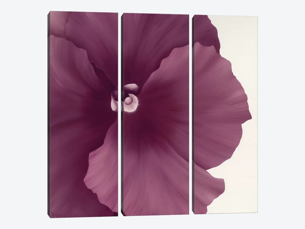 Violet Flower II by Yvonne Poelstra-Holzhaus 3-piece Canvas Art