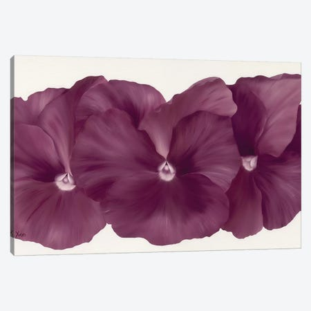 Violet Flower III Canvas Print #YPH66} by Yvonne Poelstra-Holzhaus Canvas Artwork