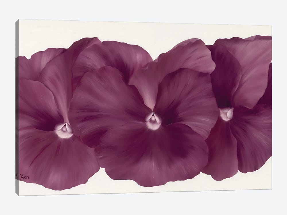 Violet Flower III by Yvonne Poelstra-Holzhaus 1-piece Canvas Art Print