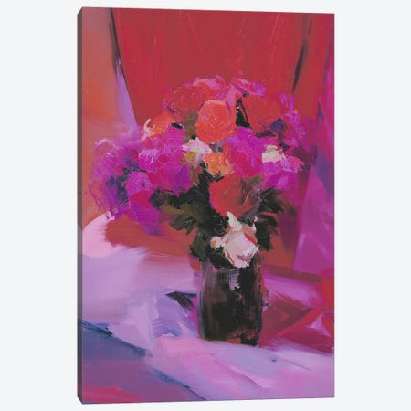 Roses for Red Canvas Print #YPR108} by Yuri Pysar Canvas Art Print