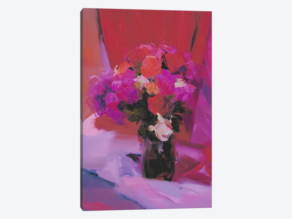 Roses for Red by Yuri Pysar 1-piece Canvas Wall Art