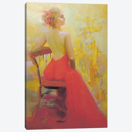 Halynka Canvas Print #YPR11} by Yuri Pysar Canvas Wall Art