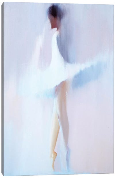 Morning White II Canvas Art Print