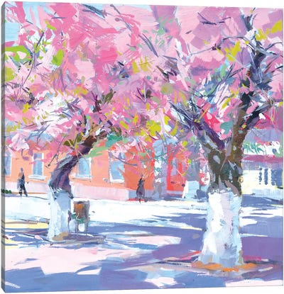 Sakura Hugs Canvas Art Print