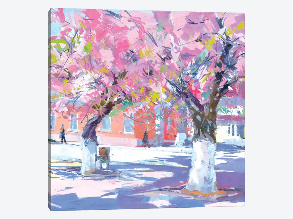 Sakura Hugs 1-piece Canvas Print