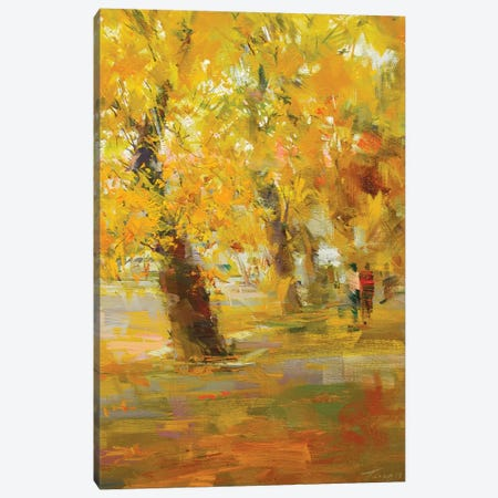 Autumn Rain Canvas Print #YPR168} by Yuri Pysar Canvas Art Print