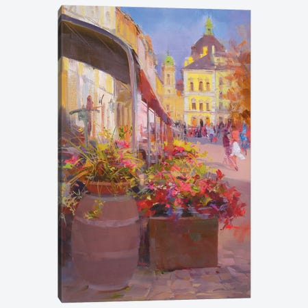 The Market Square Canvas Print #YPR169} by Yuri Pysar Canvas Art Print