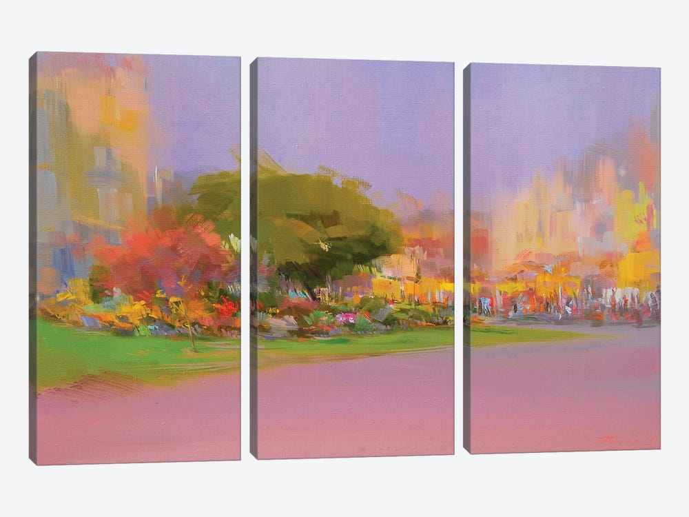 Sunny October by Yuri Pysar 3-piece Canvas Wall Art