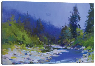 The Mountanious River Canvas Print #YPR175