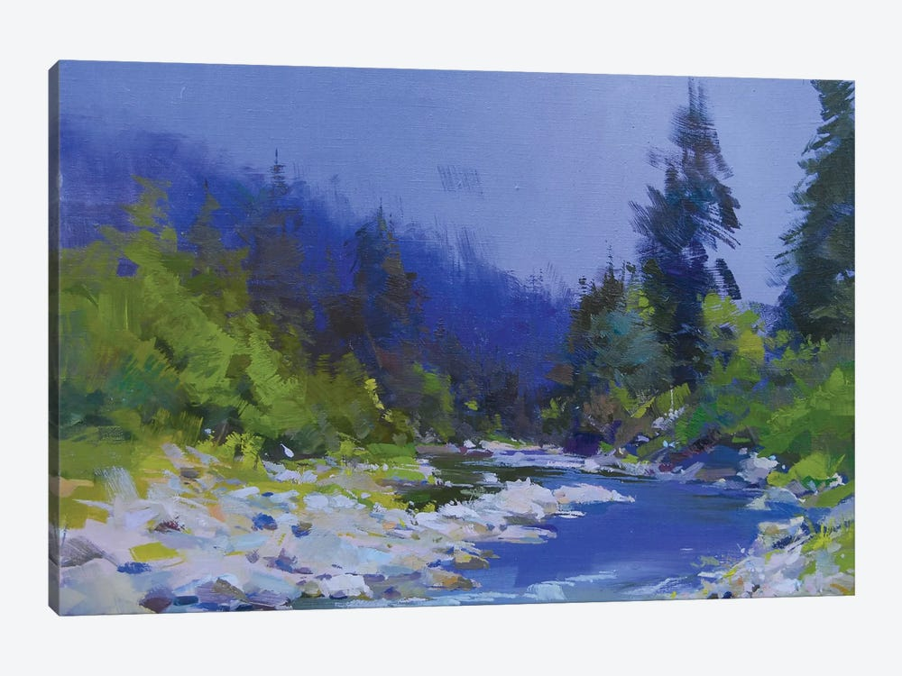 The Mountanious River by Yuri Pysar 1-piece Canvas Wall Art