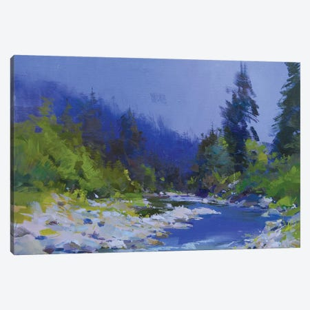 The Mountanious River 3-Piece Canvas #YPR175} by Yuri Pysar Canvas Art Print