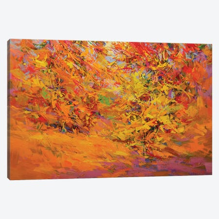 Golden Leaves Canvas Print #YPR181} by Yuri Pysar Canvas Print