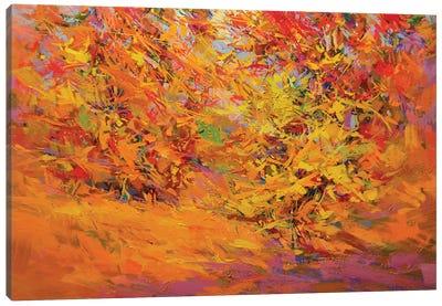 Golden Leaves Canvas Print #YPR181