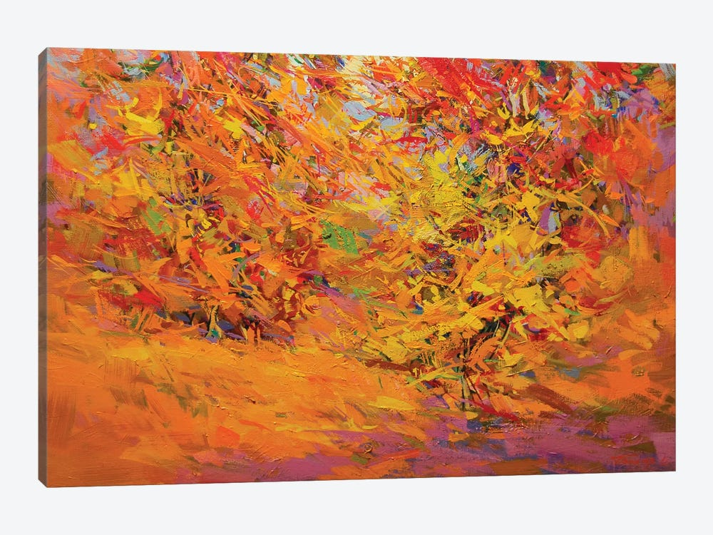 Golden Leaves by Yuri Pysar 1-piece Art Print