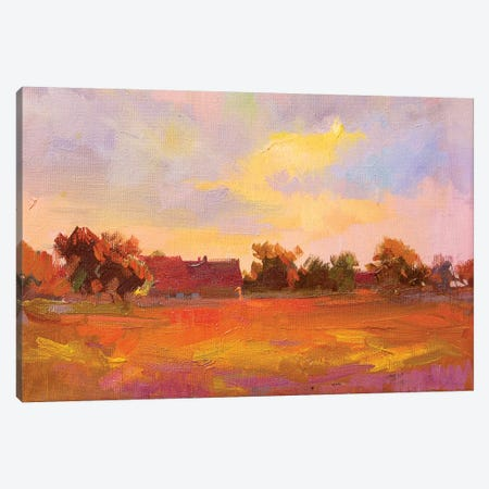 Sunset. Pidhirtzi Canvas Print #YPR187} by Yuri Pysar Canvas Art