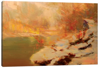 Evening at the River Canvas Print #YPR197