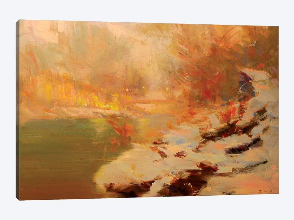 Evening at the River by Yuri Pysar 1-piece Canvas Art