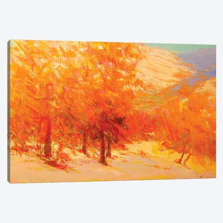 Firing Sunset Canvas Print #YPR199} by Yuri Pysar Canvas Art