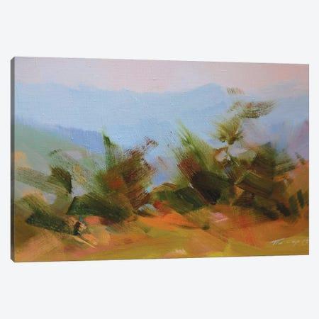 Mountains in Blues Canvas Print #YPR200} by Yuri Pysar Canvas Artwork