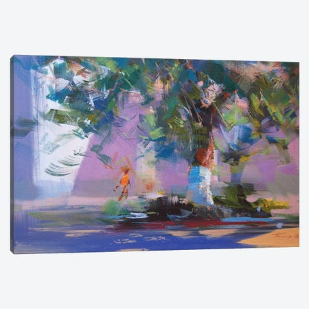 The Tree in Rays Canvas Print #YPR201} by Yuri Pysar Canvas Art