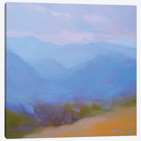 Mountains in Blues II Canvas Print #YPR202} by Yuri Pysar Canvas Artwork