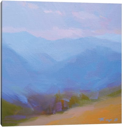 Mountains in Blues II Canvas Print #YPR202
