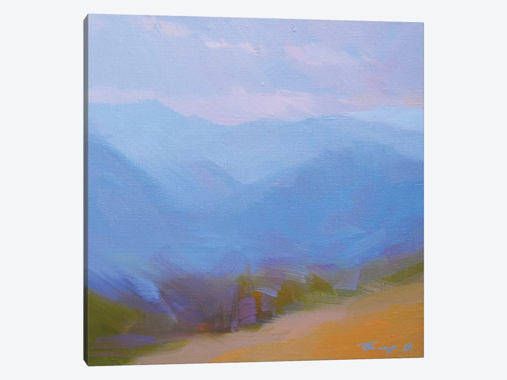 Mountains in Blues II by Yuri Pysar 1-piece Canvas Artwork