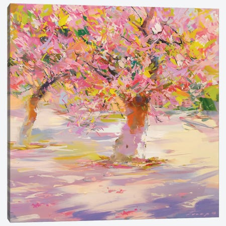 Sakura Blossom Canvas Print #YPR211} by Yuri Pysar Canvas Art Print