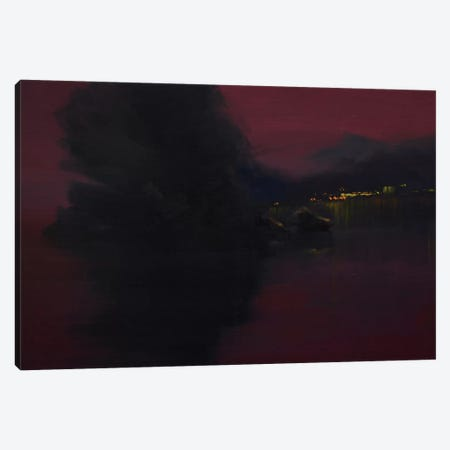 Sunset Yalta Canvas Print #YPR217} by Yuri Pysar Canvas Wall Art