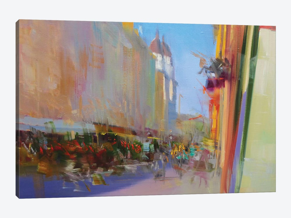 Street of Time #2 by Yuri Pysar 1-piece Canvas Art Print