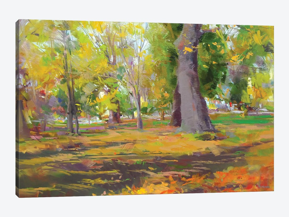 The Autumn Walk 1-piece Canvas Art Print