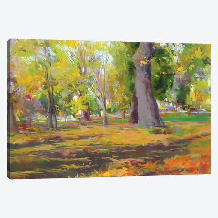 The Autumn Walk 3-Piece Canvas #YPR230} by Yuri Pysar Canvas Art Print