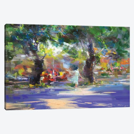 The Windy Walk Canvas Print #YPR232} by Yuri Pysar Canvas Print