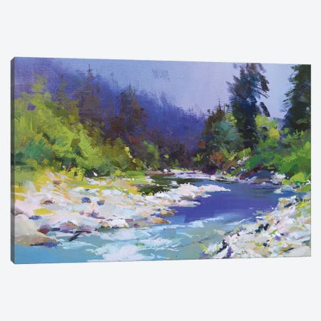 River and Stones Canvas Print #YPR246} by Yuri Pysar Art Print