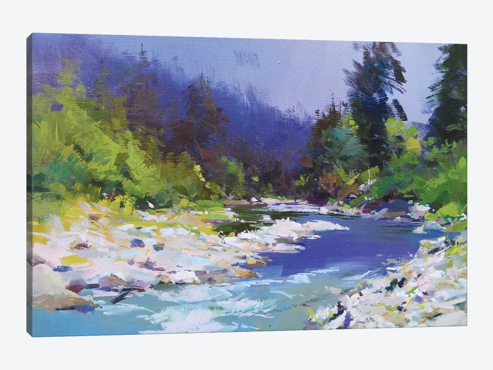 River and Stones by Yuri Pysar 1-piece Canvas Art