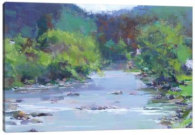 The White River Canvas Art Print