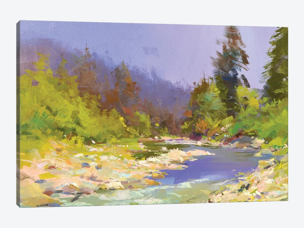 River and Stones II by Yuri Pysar 1-piece Canvas Wall Art