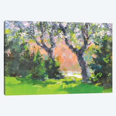 The Spting Garden Canvas Print #YPR262} by Yuri Pysar Canvas Art